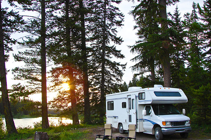 secluded RV campground