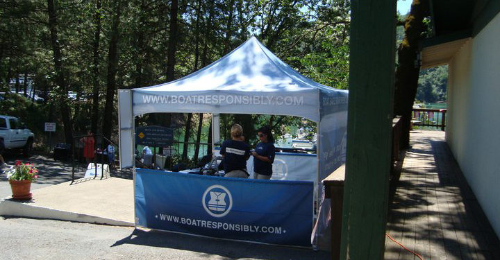 houseboat safety booth at shasta lake