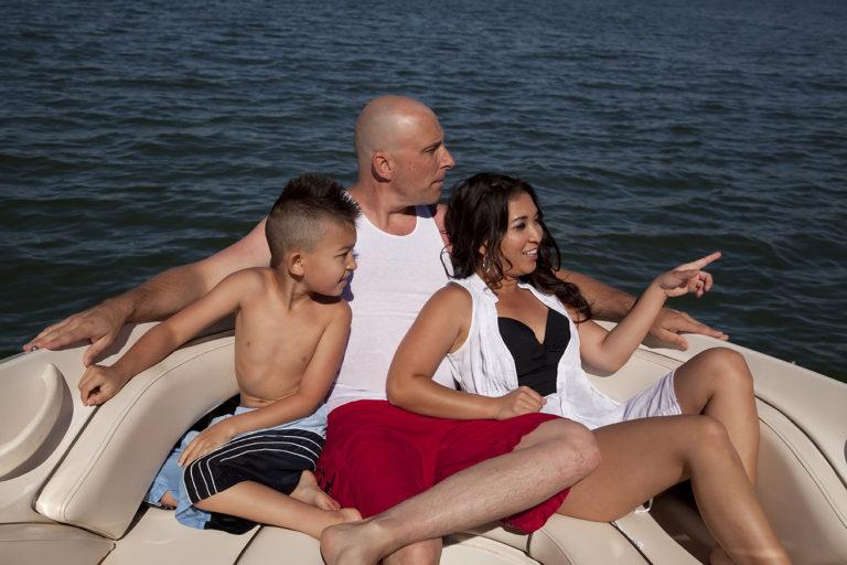 family enjoys boat rentals