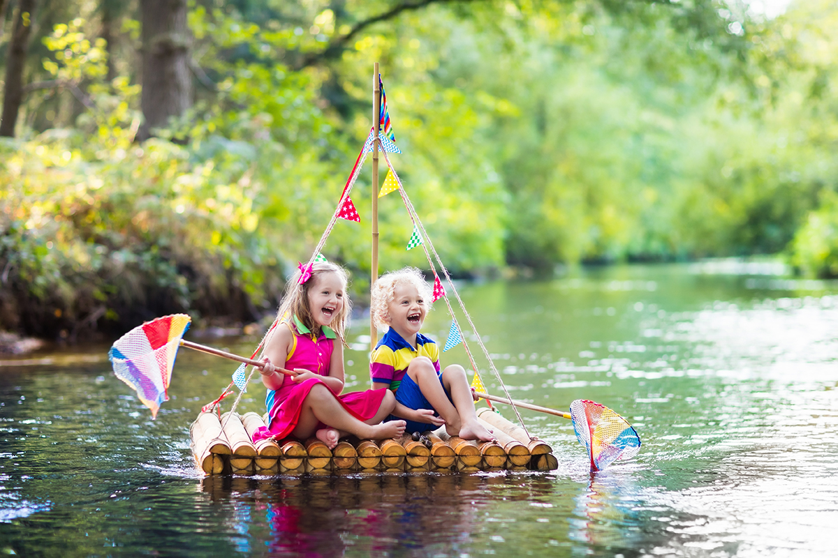 kids raft near shasta lake rv campground